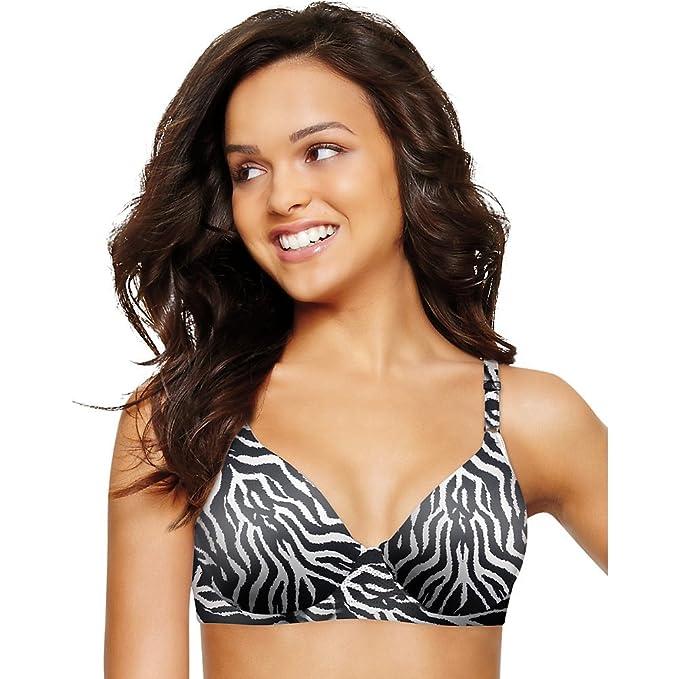 Playtex Sujetador básico - sin costuras - para mujer multicolor Zebra Print
