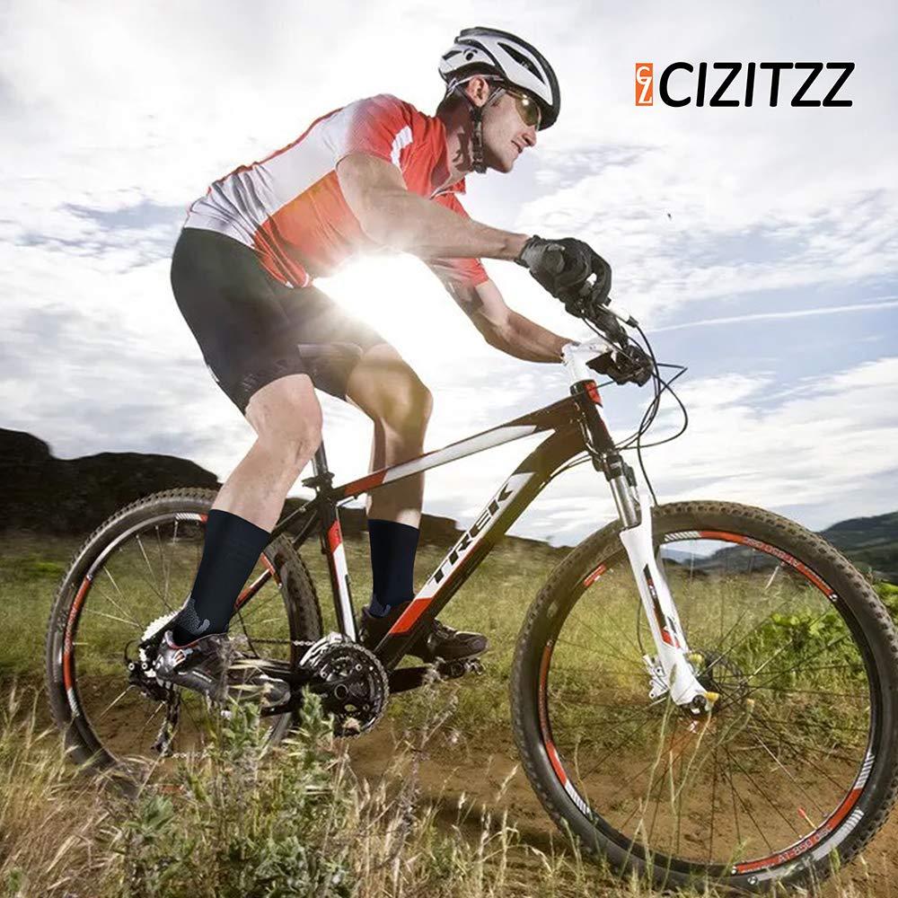 CIZITZZ Compression Socks Women,Men,15-20 mmhg,Black And Purple Socks For Medical,Athletic And Running Sports Fun,Black,L/XL