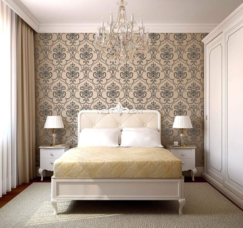 Wall Small Karim Damask Furniture Wall Floor Stencil for Painting