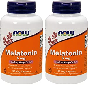 Now Foods High Potency 5mg Melatonin (180 vcaps) White/Orange