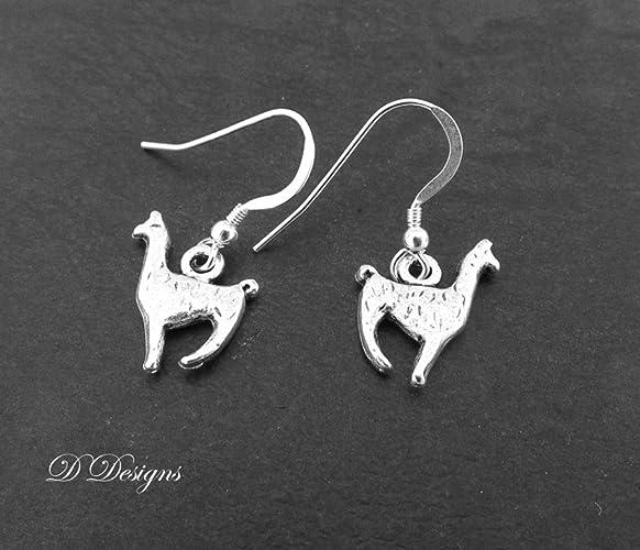 4185203f8 Llama Earrings Sterling Silver: Amazon.co.uk: Handmade