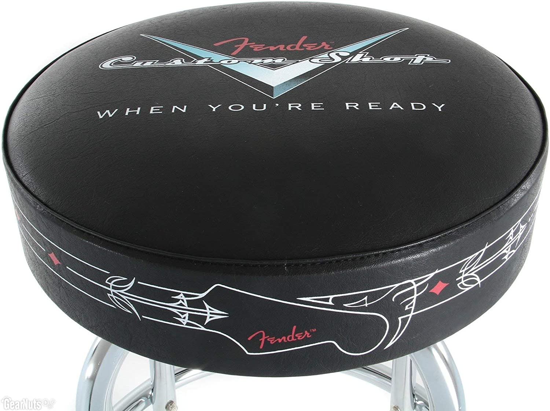 Fender custom shop pinstripe sgabello da bar 24 cm nero: amazon.it