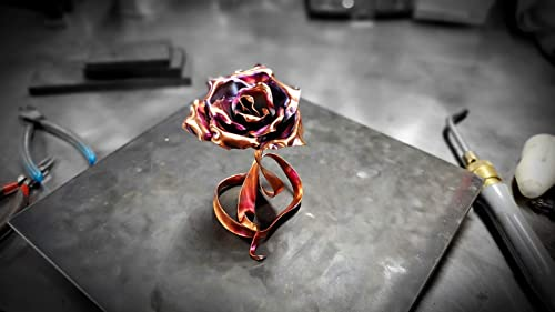 """Copper Rose""""Ribbon of Love"""" 1687 *SAVE 15 SEE BELOW* Steampunk Industrial Birthday 7th Anniversary Unique Mother's Valentine's Day Christma"""