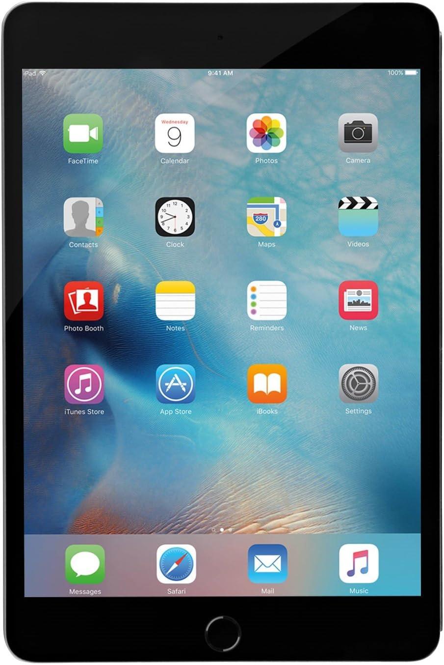 Apple iPad Mini 4, 64GB, Space Gray - WiFi (Renewed)