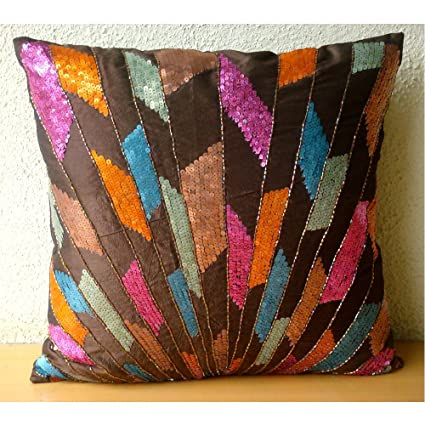 Amazon The HomeCentric Handmade Multi Color Decorative Pillows Custom Multicolored Decorative Pillows