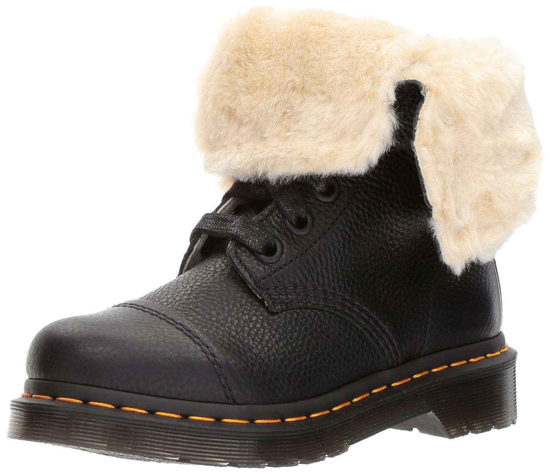Dr. Martens Women's Aimilita FL Ankle Boot B01MY2WKVV 8 Medium UK (10 US)|Black Aunt Sally