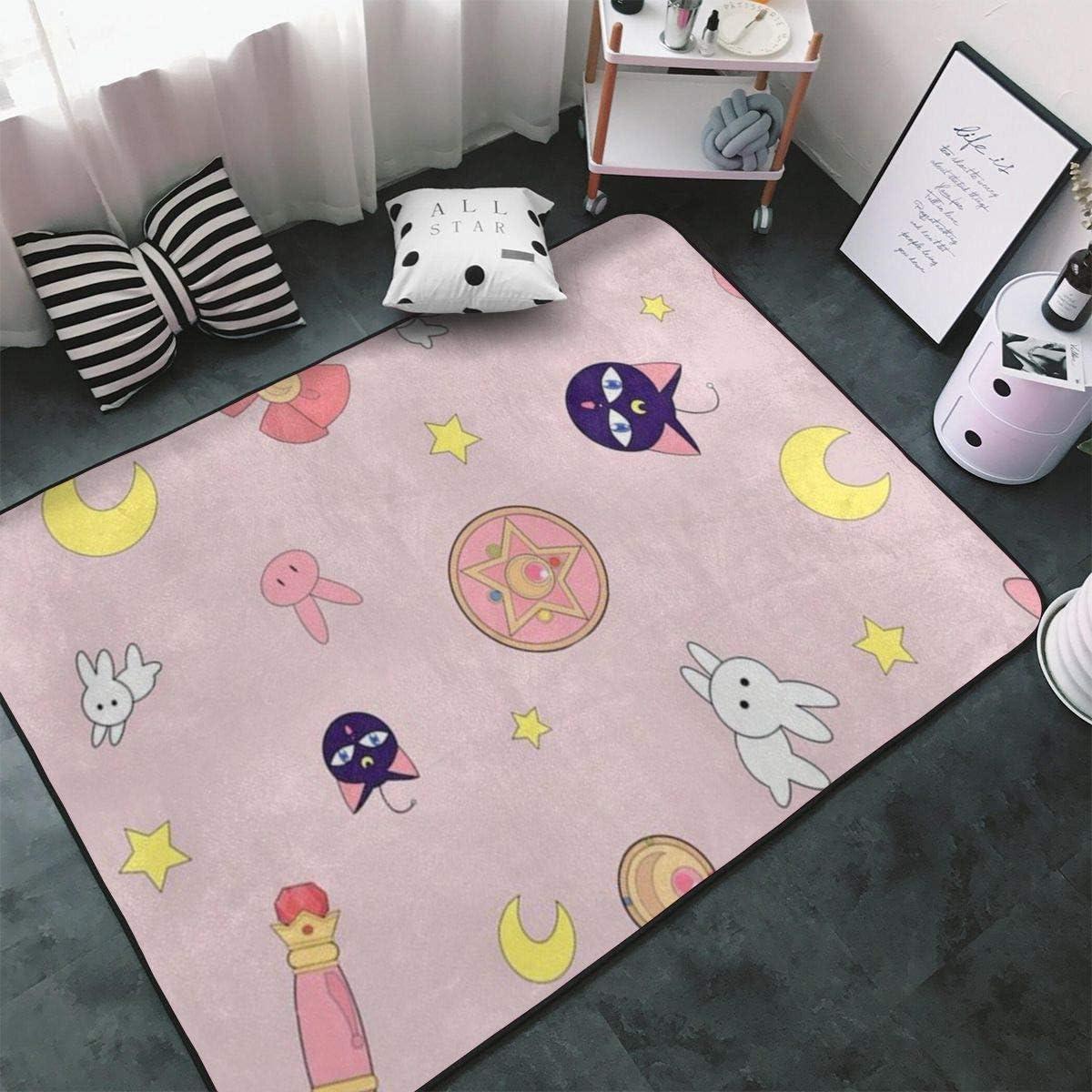 Sailor Moon Velboa Floor Rug Carpet Living Room Bedroom Kitchen Non-slip Mat hot