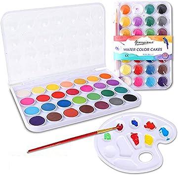 Colmanda Caja de Acuarela, 28 Colores Set de Pinturas de Acuarela Pigmento de Acuarelas Portatiles Acuarelas Profesionales para Principiantes y Profesionales: Amazon.es: Juguetes y juegos
