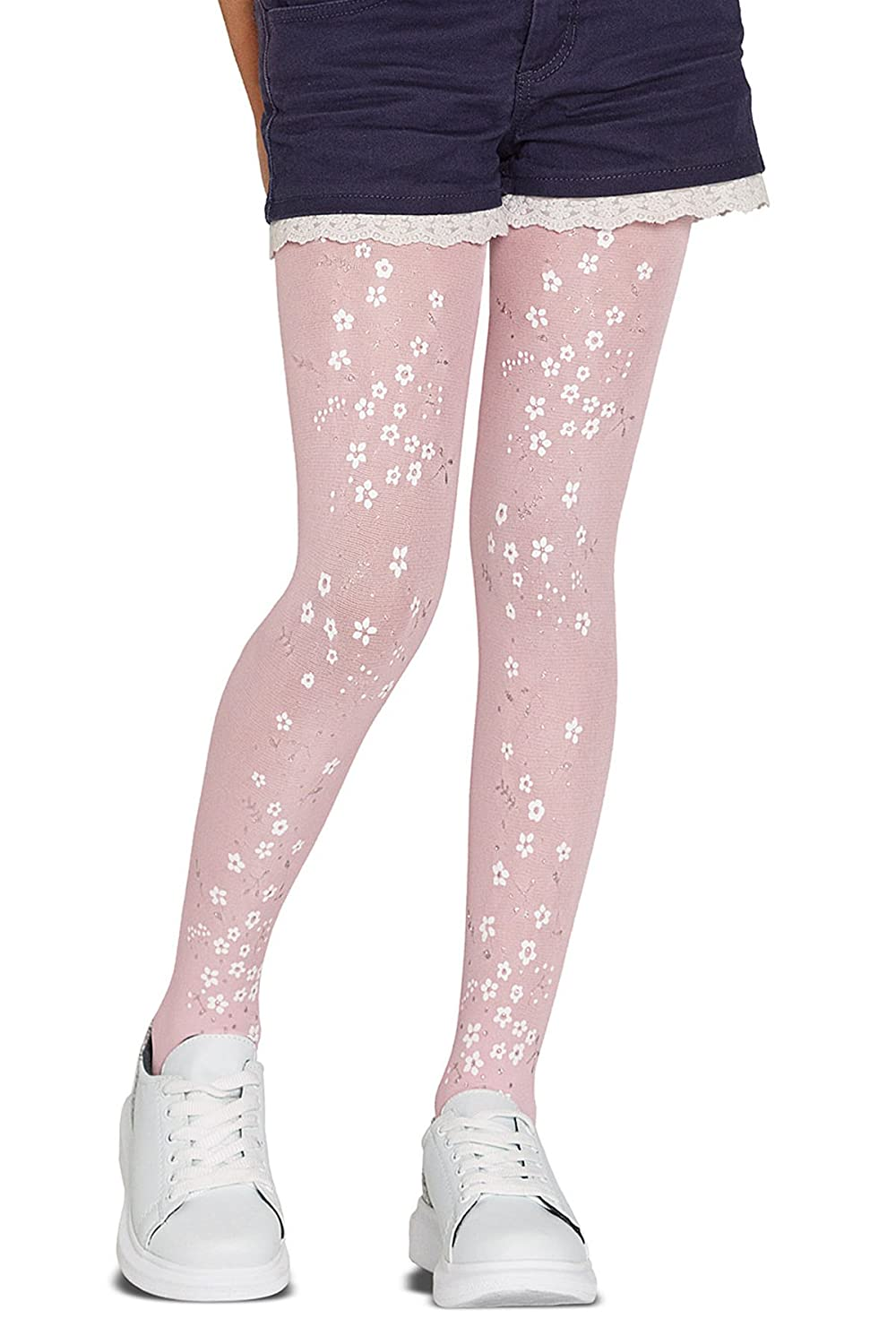 Penti Pretty Bouquet 40 Den Girls Printed Footed Tight