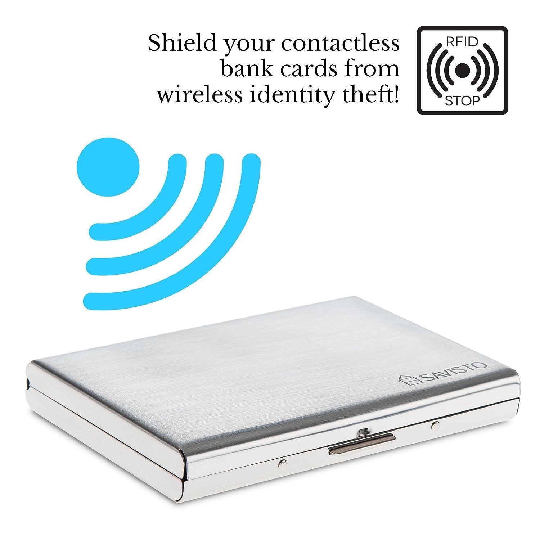 Custodia rigida RFID Blocco carta di credito bancario scansione anti proteggere senza contatto