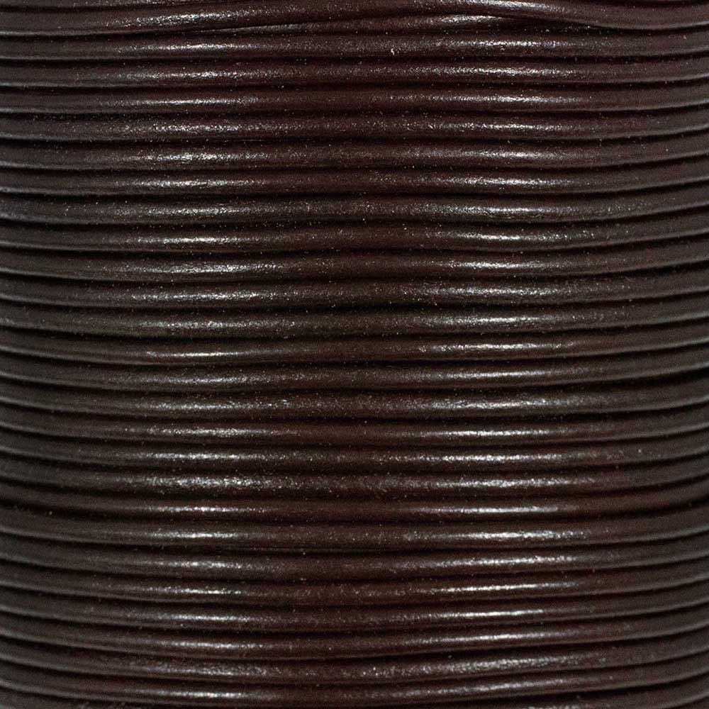 3mm Natural, 25 Yards Craft County Round Leather Cord