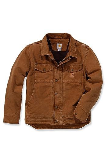 Chaqueta de trabajo modelo 101230 de Carhartt, colores marrón y negro : Amazon.es: Ropa y accesorios