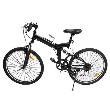 """Ridgeyard 26"""" Plegable Bicicleta Plegable Bicicleta Delantera y Trasera Frenos de Mano 7 Cambio de"""