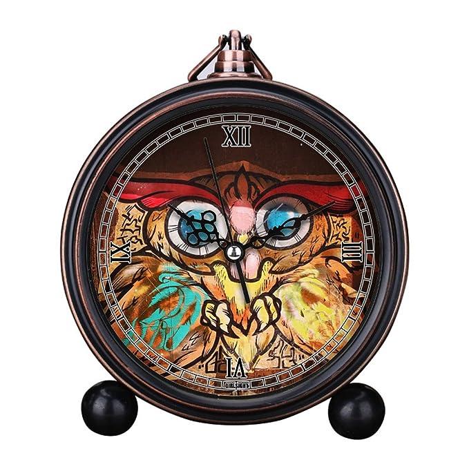 GIRLSIGHT Reloj Despertador de Mesa de Noche con números Grandes y ...
