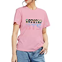 DealRight BTS Love Yourself T Shirt Short Sleeve Jungkook Suga JIN Jimin J-Hope V RM Kpop Tee Crew Neck T-Shirts