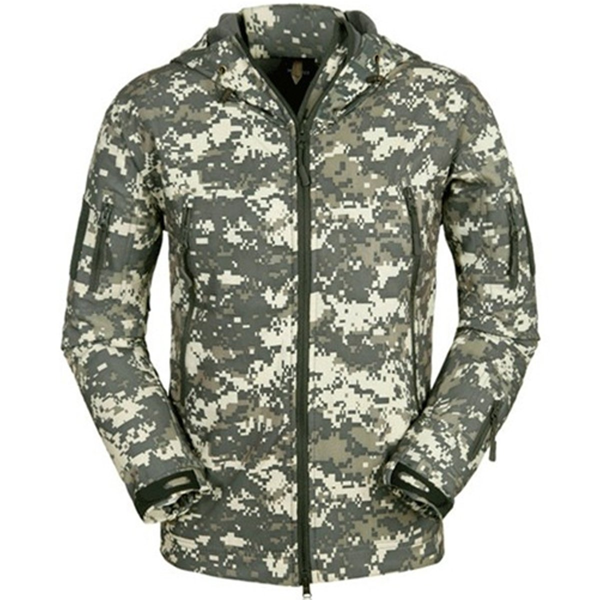 Eglemall Men's Outdoor Hunting Soft Shell Waterproof Tactical Fleece Lined Jackets
