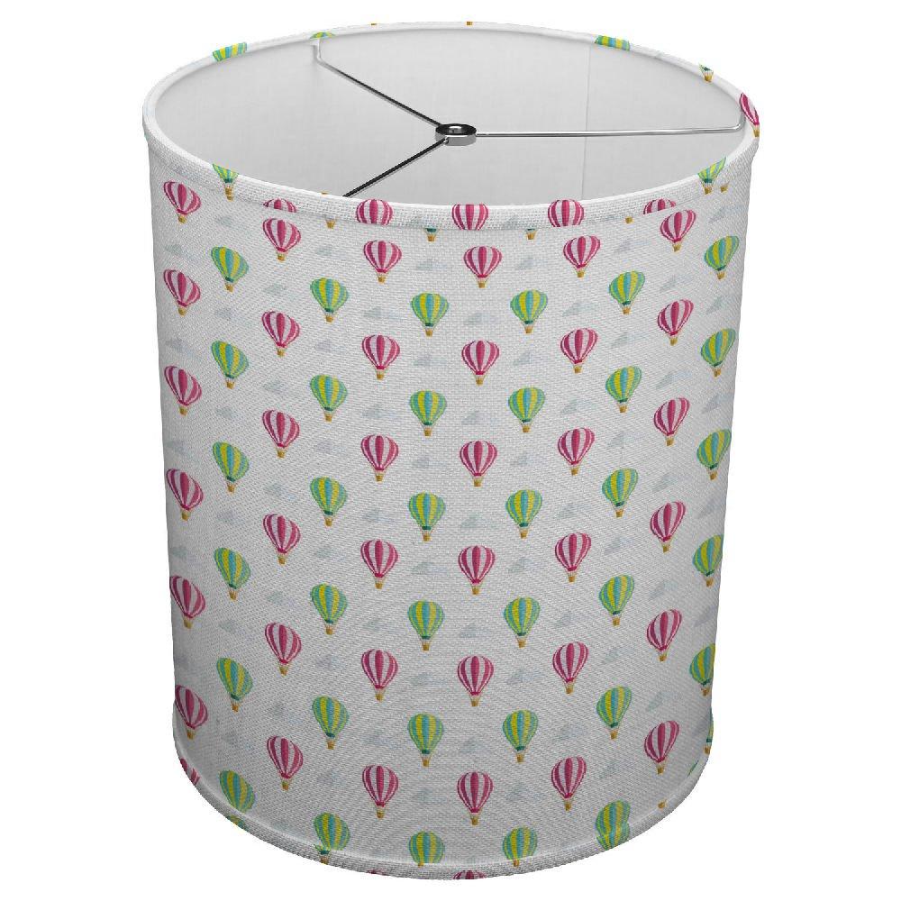 Hardback Linen Drum Cylinder Lamp Shade 8'' x 8'' x11'' Spider Construction [ Hot Air Balloons ]