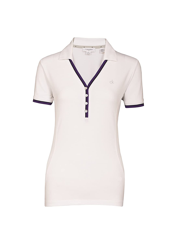 Calvin Klein esencia Ladies Golf Polo blanco, color Blanco ...
