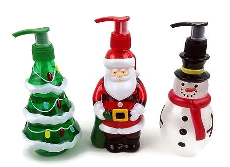 Vacaciones dispensadores de jabón de manos Trio. La Navidad Con La Forma De Papá Noel, ...