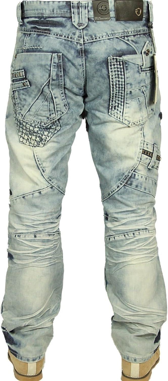 Eto Men's Designer Regular Fit Light Blue Funky Denim Jeans Hellblue