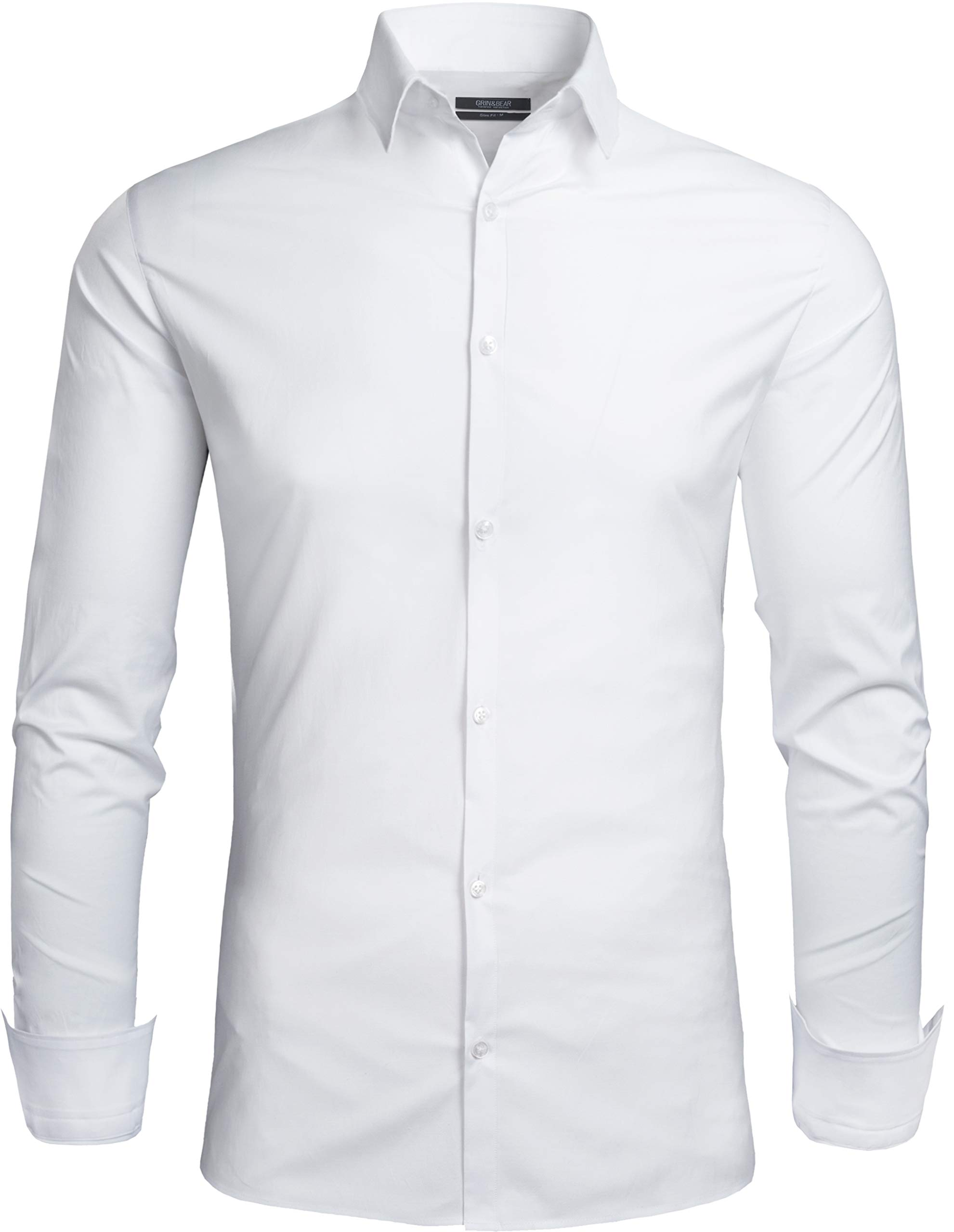 483e45500dcae4 Grin&Bear Herren Hemd in 3 Verschiedenen Passformen, von Extra Slim Fit bis  Regular, für Freizeit und Büro, SH333