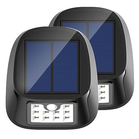 Solar Sensor de movimiento luces 10 LED al aire libre impermeable lámpara de pared de seguridad