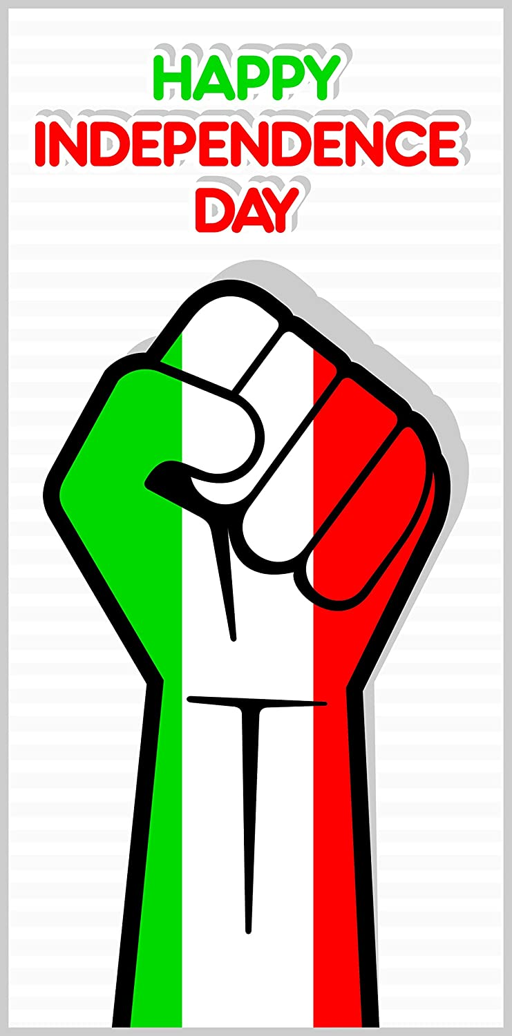 Amazon Com Happy Independence Day Mexico Strong Mexican Flag Pattern In Fist Cartoon Art Vinyl Sticker Icon Banner Automotive