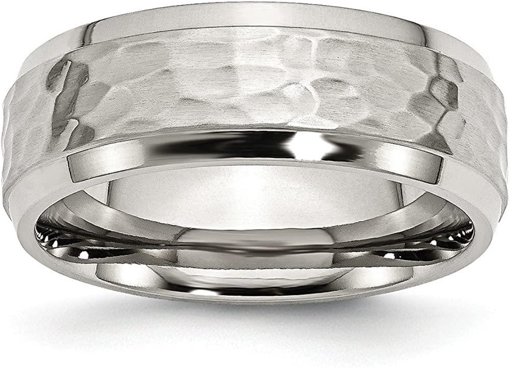 Sterling Silver Wedding Band Ring Brushed 7 mm SS 7mm Brushed Fancy B