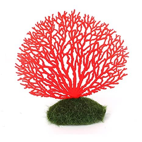sourcingmap® 14,5cm de silicona con forma de árbol artificial paisajísmo Acuario Pecera decoración