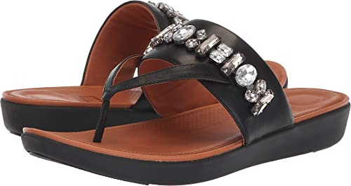 6c388ca643ec Fitflop Delta Bejewelled Leather Toe-Thongs  Amazon.co.uk  Shoes   Bags