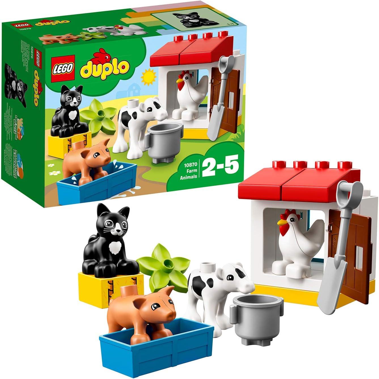 LEGO DUPLO Town - Animales de Granja, Juguete Preescolar Creativo de Construcción para Niños y Niñas de 2 a 5 Años, Incluye Muñecos de Animales (10870)