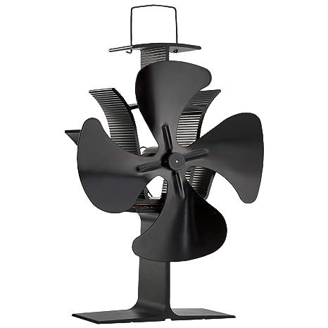 Zennox Ventilador de Estufa de 4 aspas Accionada con Calor Respetuoso con el Medio Ambiente para