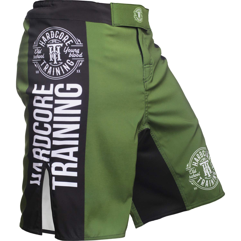 Hardcore Training Fight Shorts Mens Recruit Schwarz Gr/ün Rot Lila Boxing Shorts Herren Fitness Gym Kampfsport Boxen Kurze Sport