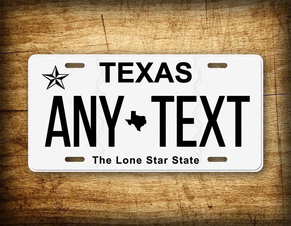 Amazon.com: Texas Personalized License Plate Customized Auto Tag ...