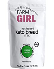 Farm Girl: Nut Based Keto Bread Mix, Easy Bake, Makes Incredible Burger Buns or Flat Breads, 3g Net Carbs per Serving, Reformulated