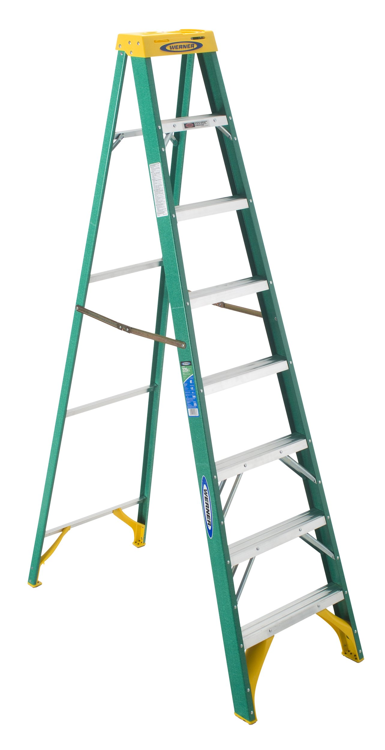 Werner 5908 225-Pound Duty Rating Type II Fiberglass Stepladder, 8-Foot
