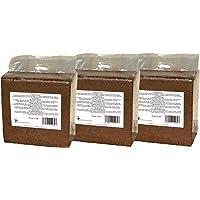 Kokosfaserziegel 3x 70 Liter, gesamt: 210 Liter, ca. 5kg je Ziegel (EUR 0,17 je Liter/EUR 11,90 je Ziegel), Humusziegel, Kokosziegel, torffreie Anzuchterde, Kokosquellerde aus gepresster Kokosfaser