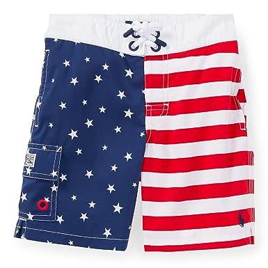 6ea26f0e40 RALPH LAUREN Polo Mens American Flag Swim Trunk (S, Americana)