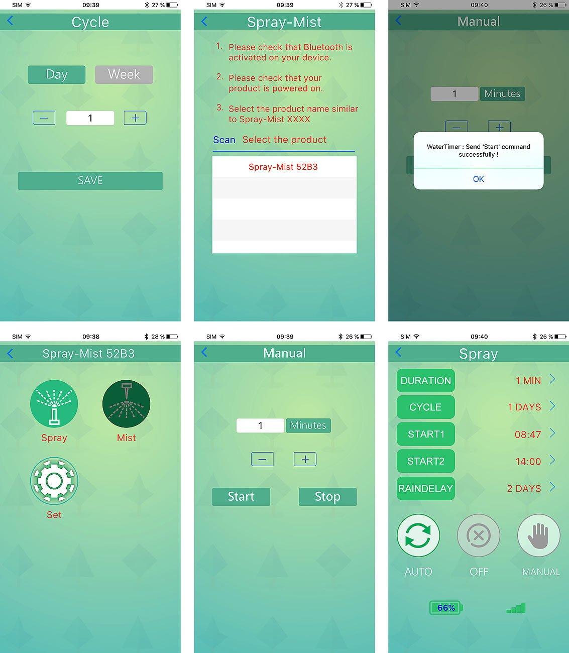 Programmateur darrosage avec bluetooth command/é par application