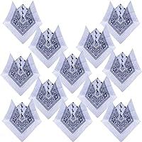 (100% Cotone) 3 pz / 6 pz / 12 pz Bandane ai Capelli al Collo in Testa Modelli di Paisley Sciarpa Fazzoletti da Taschino