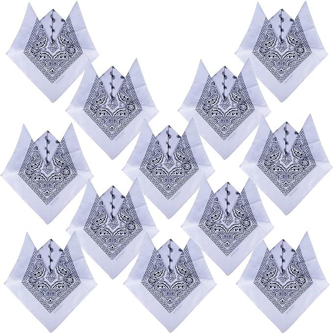QUMAO Pack de 12(100% Algodón) Pañuelos Bandanas de Modelo de ...