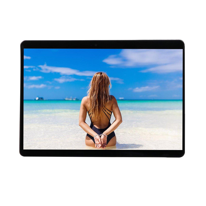 LLLtrade 10.1 inch 3G Unlocked Android 6.0 Phablet MTK6592 Octa Core Dual Sim Card Slots 4GB + 64GB IPS Screen Wifi Bluetooth Tablet PC (Black)