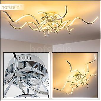 Designer Decken Leuchte Minimalistische Wohnzimmerlampe Mit Geschwungenen Lichtleisten Sehr Wirkungsvolle Deckenbeleuchtung Fr Moderne