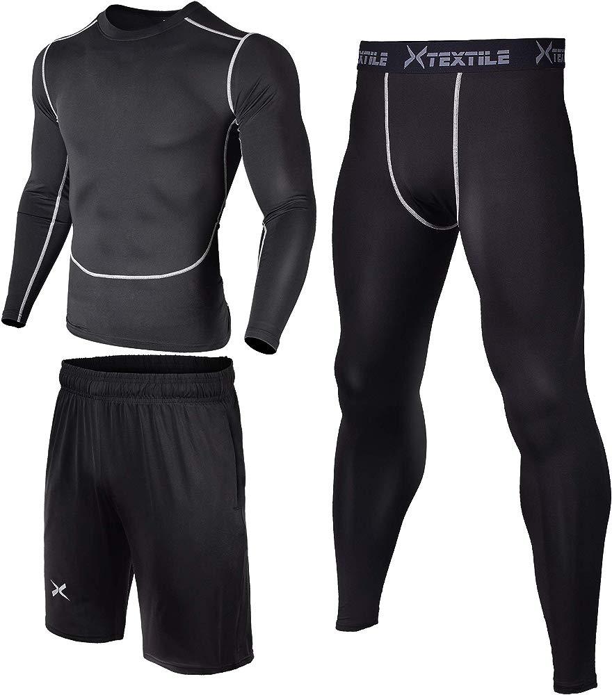 Xtextile Mens Sports Compression Tight Shorts
