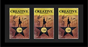 """Creative Picture Frames 11""""x 22"""" Black Triple Theatre Bill Frame and Black Matting with Installed Hanger and Stand (Theatre Bill Not Included)"""