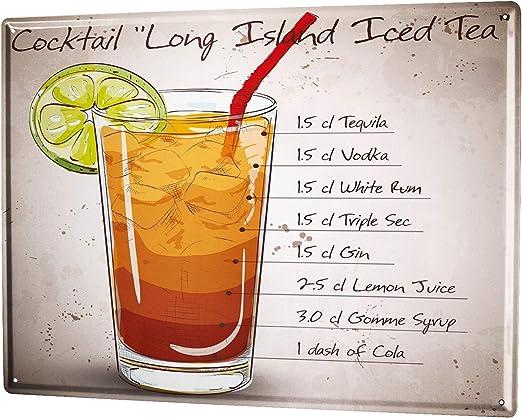 Blechschild Nostalgie Alkohol Retro Cocktail Rezept