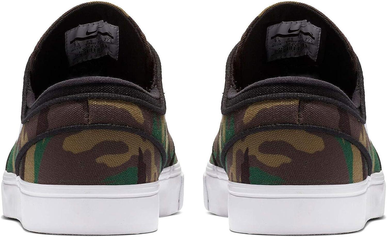 Nike Mens SB Zoom Stefan Janoski Canvas Skate Shoe 11.5, Multi-Color//White//White
