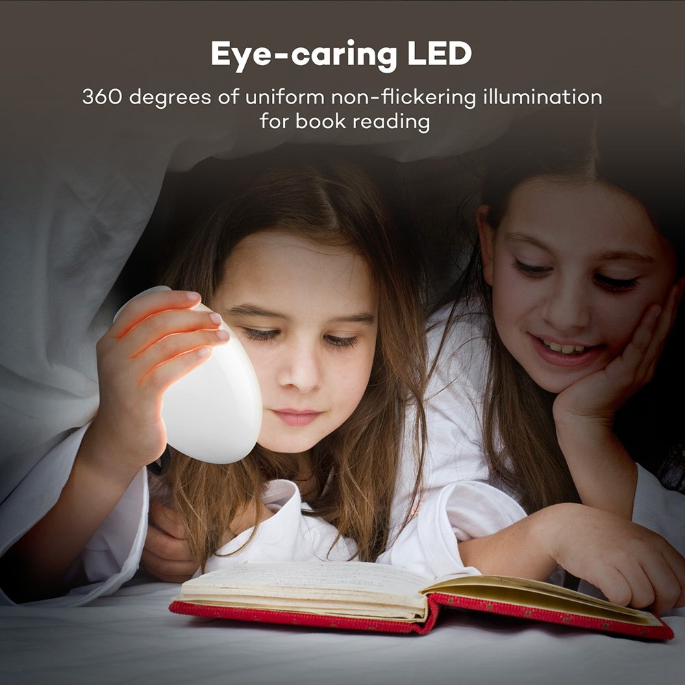 VAVA Night Lights for Kids, LED Nursery Lamp with Free Stickers, Safe ABS+PP, Adjustable Brightness Warm White/Cool White, 80 Hours Runtime by VAVA (Image #3)