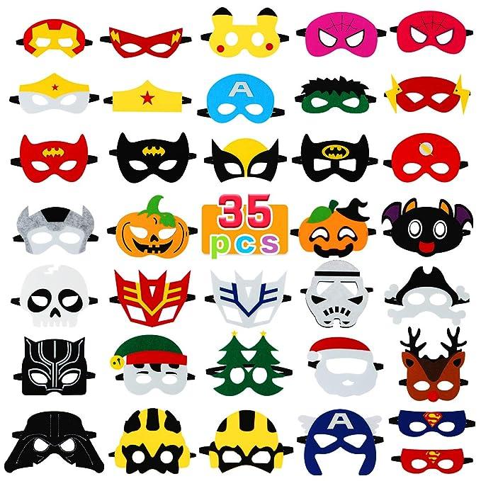 Amazon.com: Máscaras de superhéroe para niños, máscara de ...