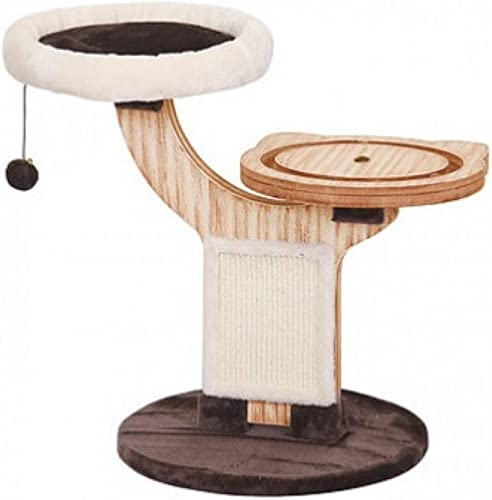 PetPals Small Cat Tree stand Scratching Post Kitten Toy Bed with Integrated Play House Tower